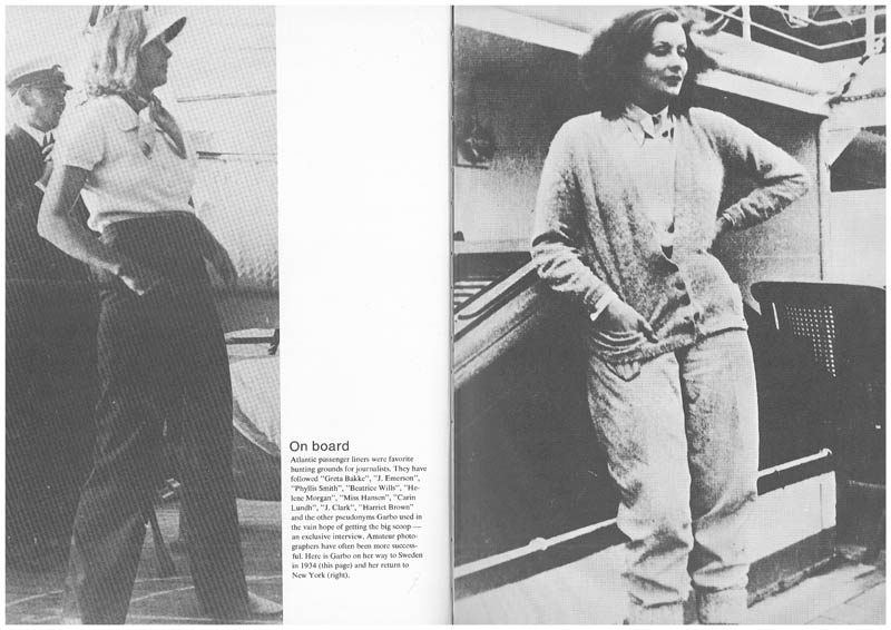 Greta Garbo ... On board